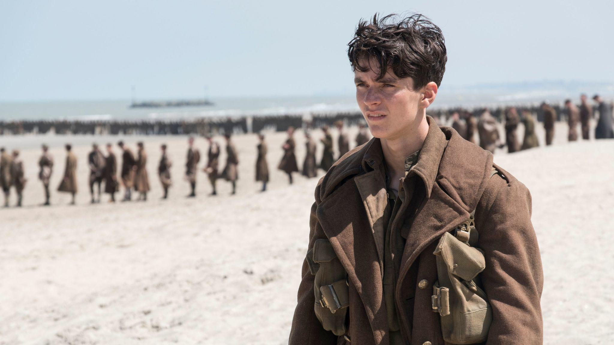 "Fionn Whitehead as Collins in ""Dunkirk."" (Melinda Sue Gordon)"