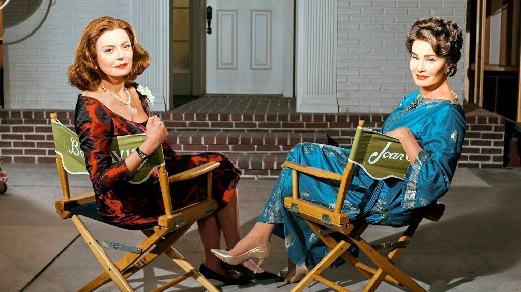 "Susan Sarandon, left, and Jessica Lange in FX's ""Feud: Bette and Joan."" (Kurt Iswarienko / FX)"