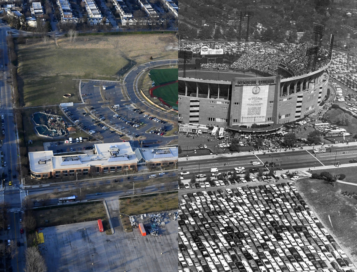 Now and then pictures memorial stadium baltimore sun