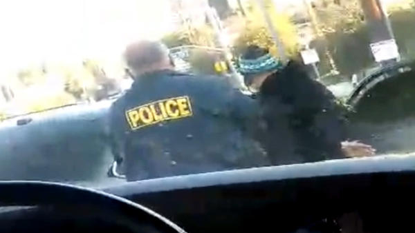 Raw video: ICE agents detain father dropping his children off at school