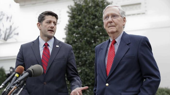 Paul Ryan and Mitch McConnellHouse Speaker Paul Ryan (R-Wis.), left, and Senate Majority Leader Mitch McConnell (R-Ky.) (AP)