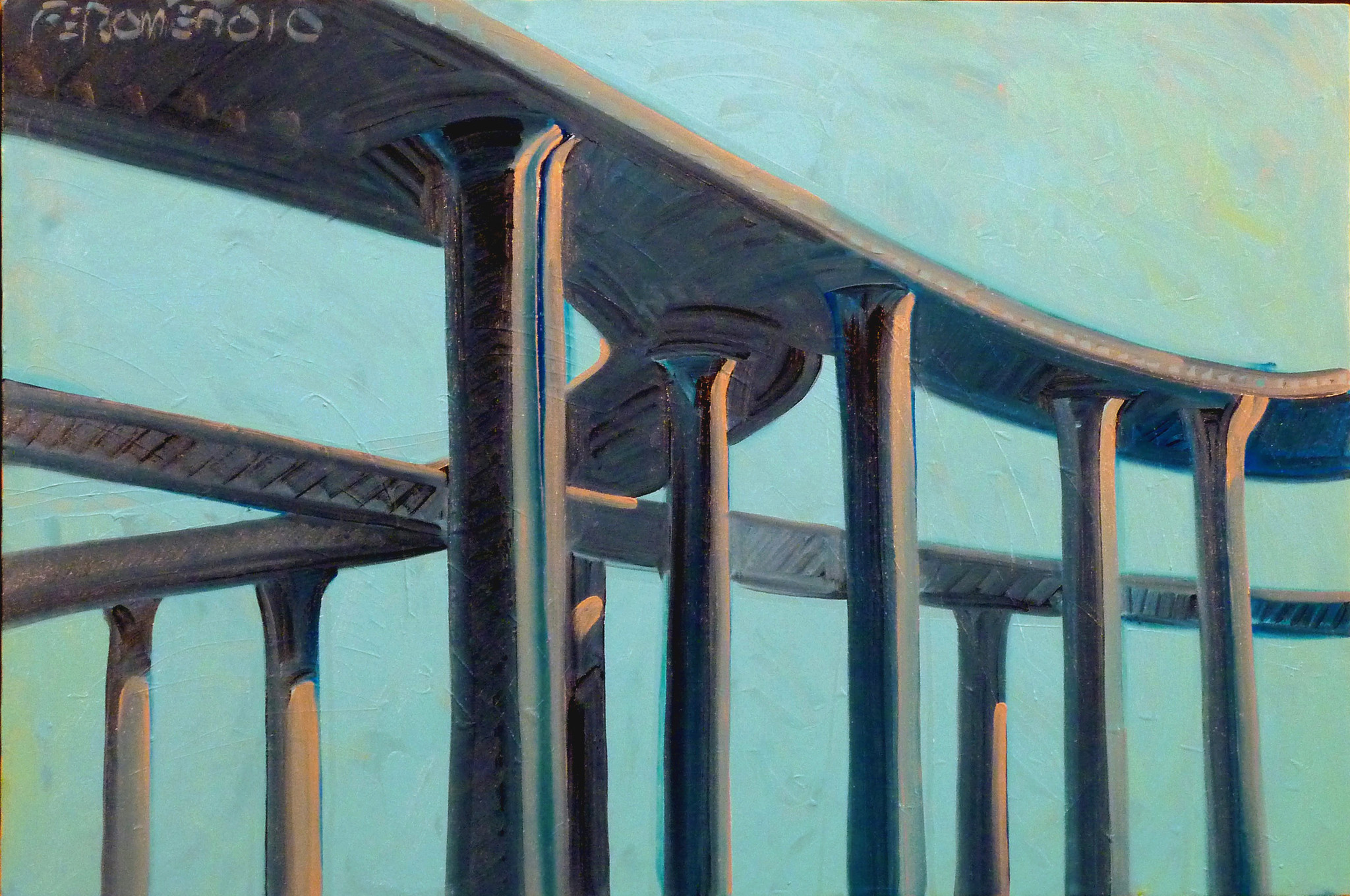 """Harbor Freeway,"" 2010, by Frank Romero."