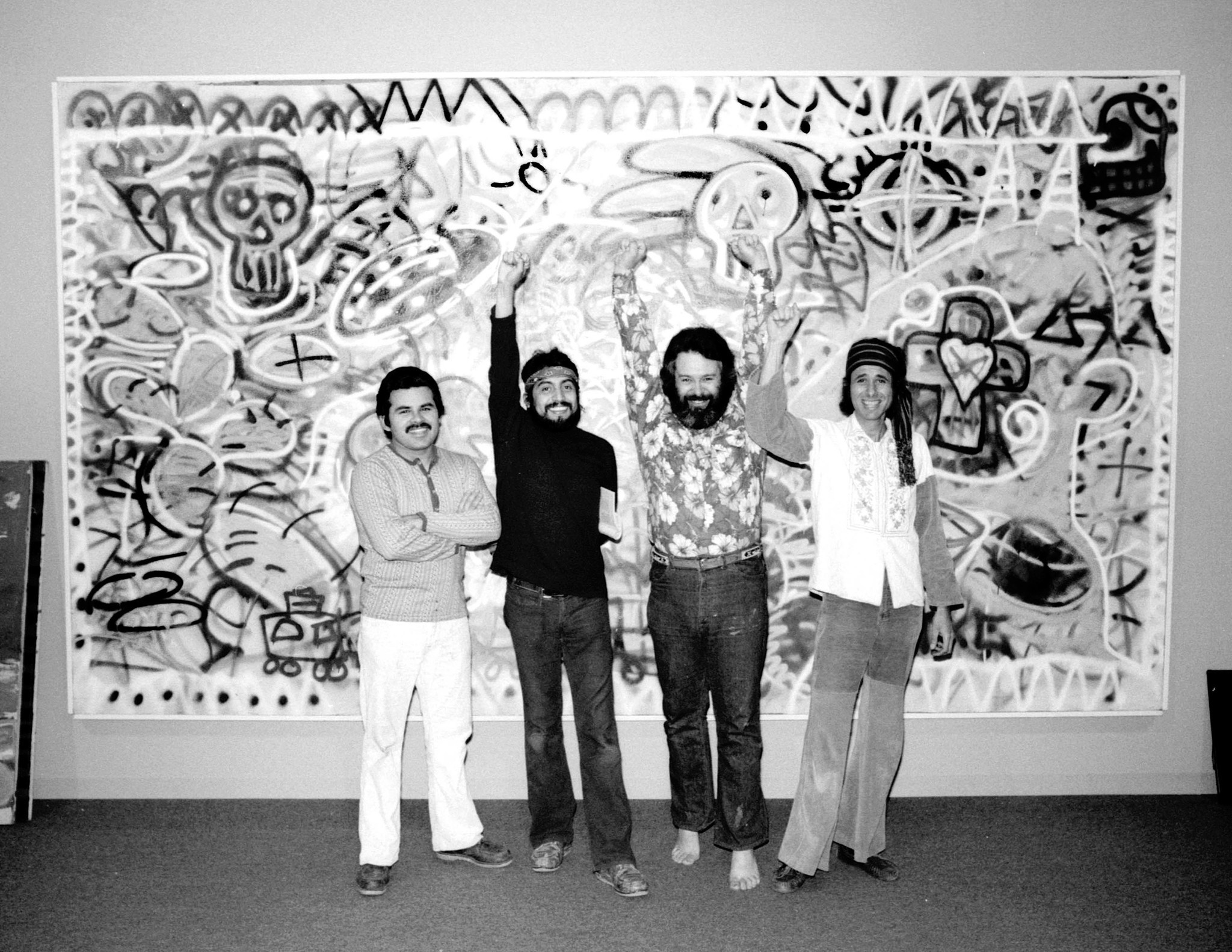 The art collective Los Four. From left: Gilbert Lujan, Carlos Almaraz, Frank Romero and Beto de la Rocha.