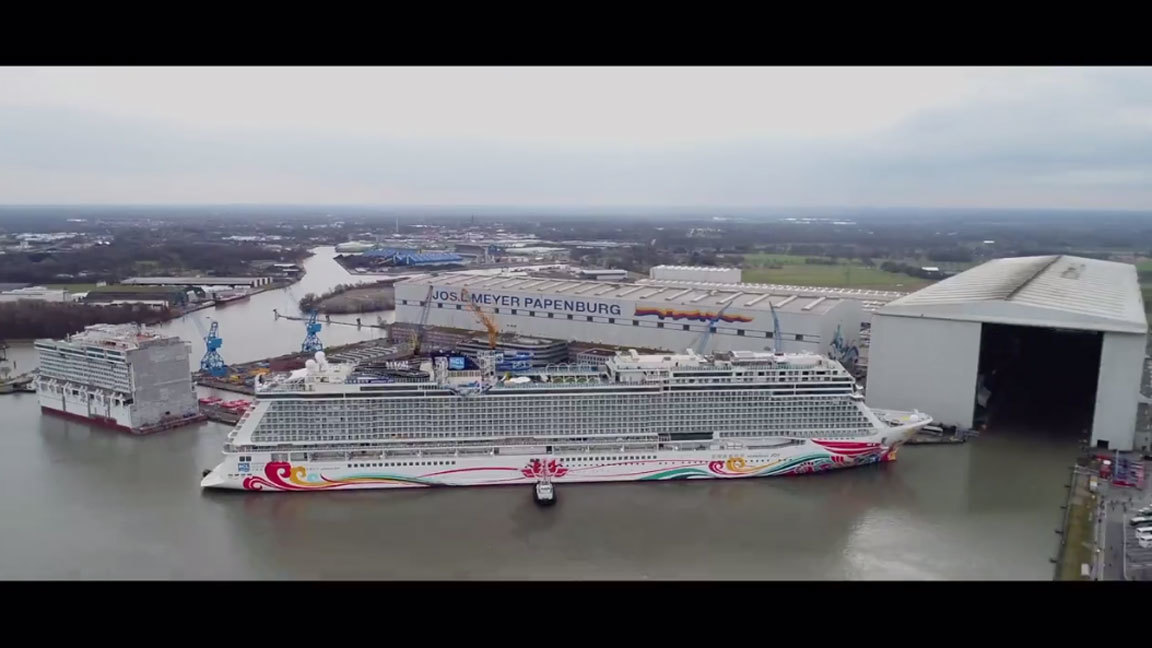 Norwegian Joy Gets First Taste Of Water Orlando Sentinel - How can cruise ships float