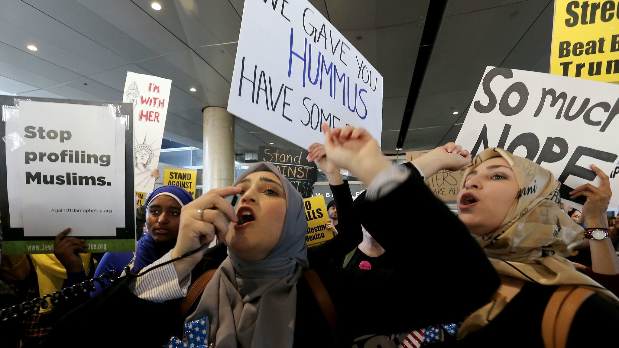 new hartford muslim New haven community  speaks at the no muslim ban ever rally outside the old state  mansoor is the president of the islamic association of greater hartford.