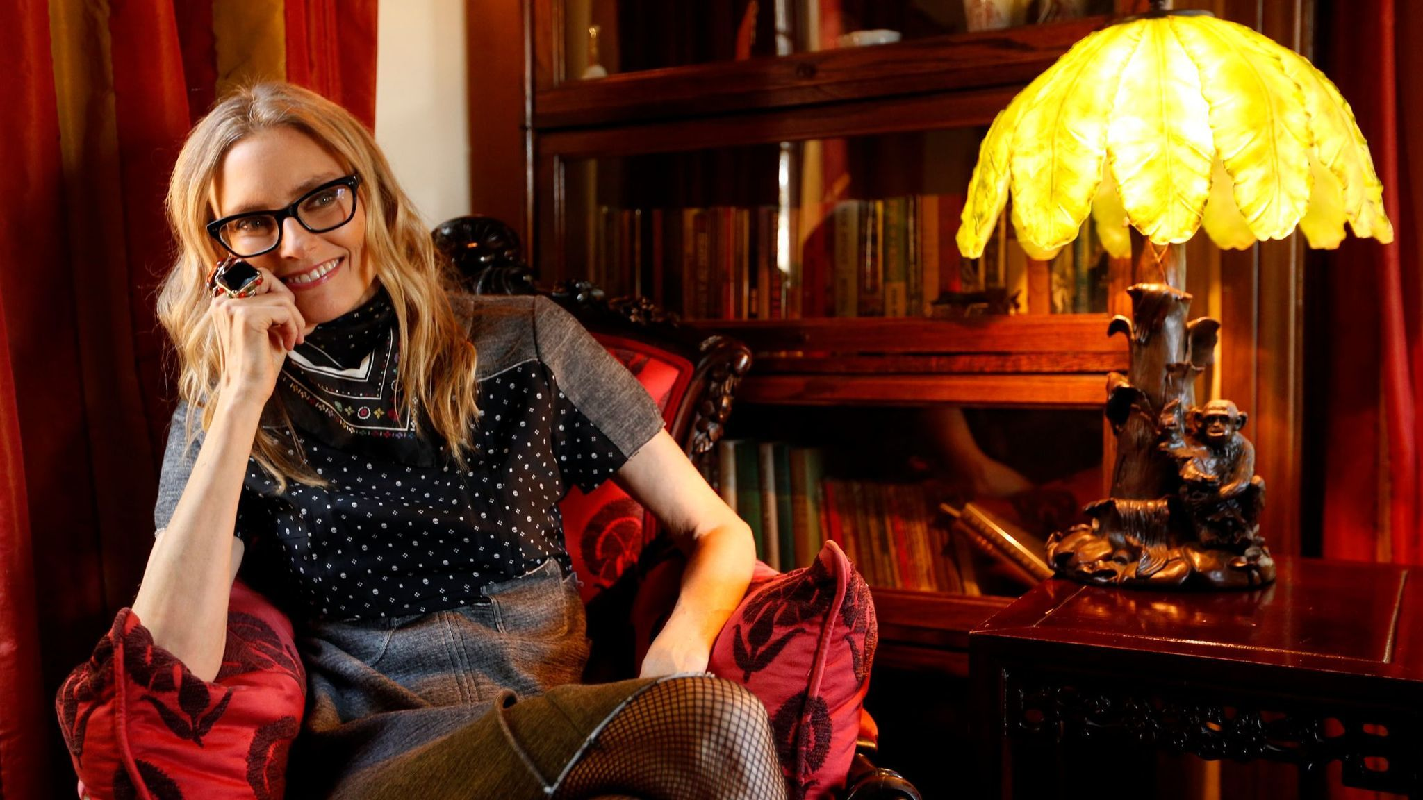 Aimee Mann photographed at her home in Los Feliz. (Genaro Molina / Los Angeles Times)