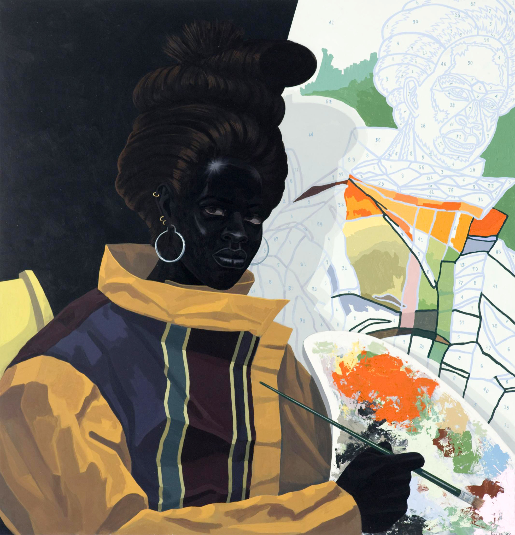 Kerry James Marshall's Untitled (Painter), 2009.