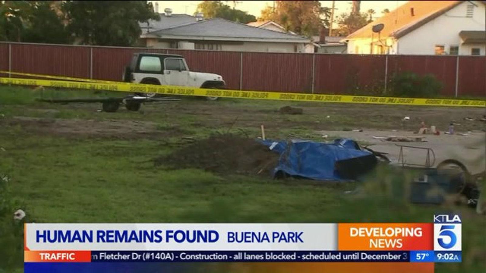 Human Bones Found In Backyard Of Buena Park Home