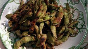 Honey-glazed soybeans