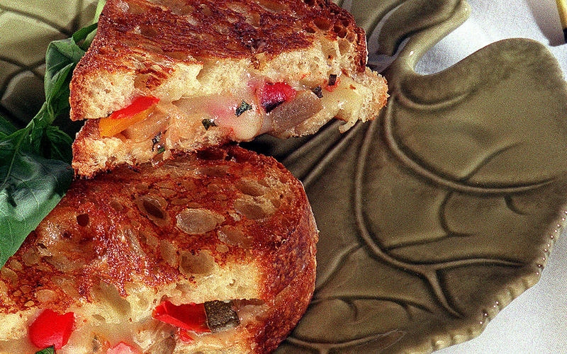 Grilled Ratatouille and Cheese Panini