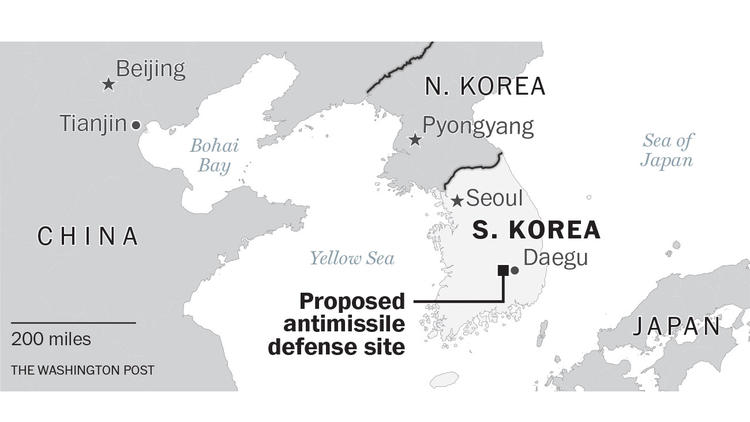 Proposed antimissile defense site