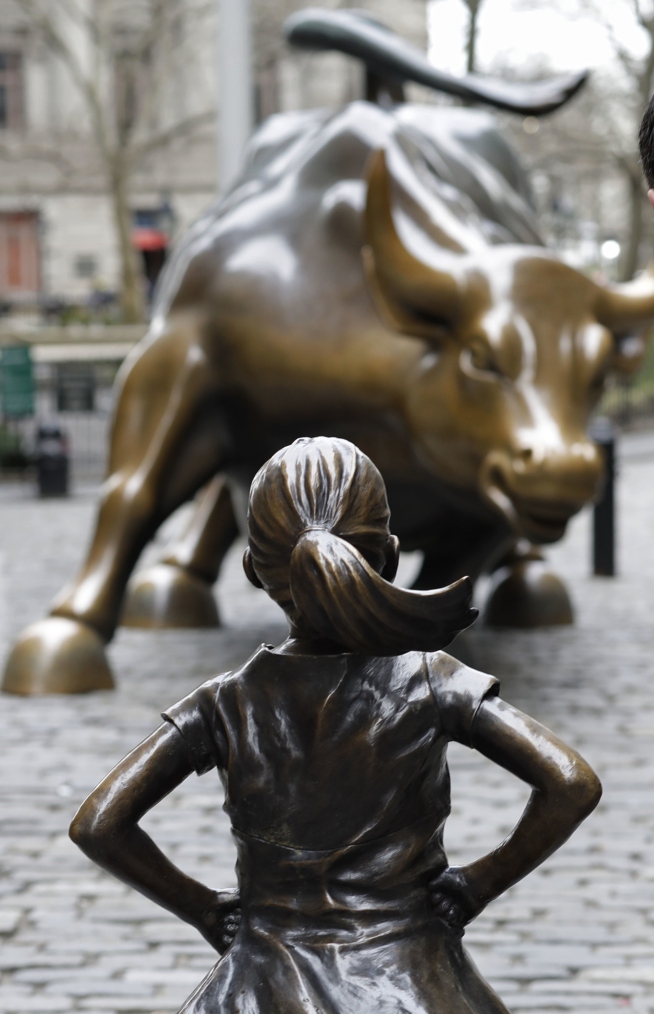 Wall Street Bull Art charging bull sculptor says fearless girl distorts his art, so