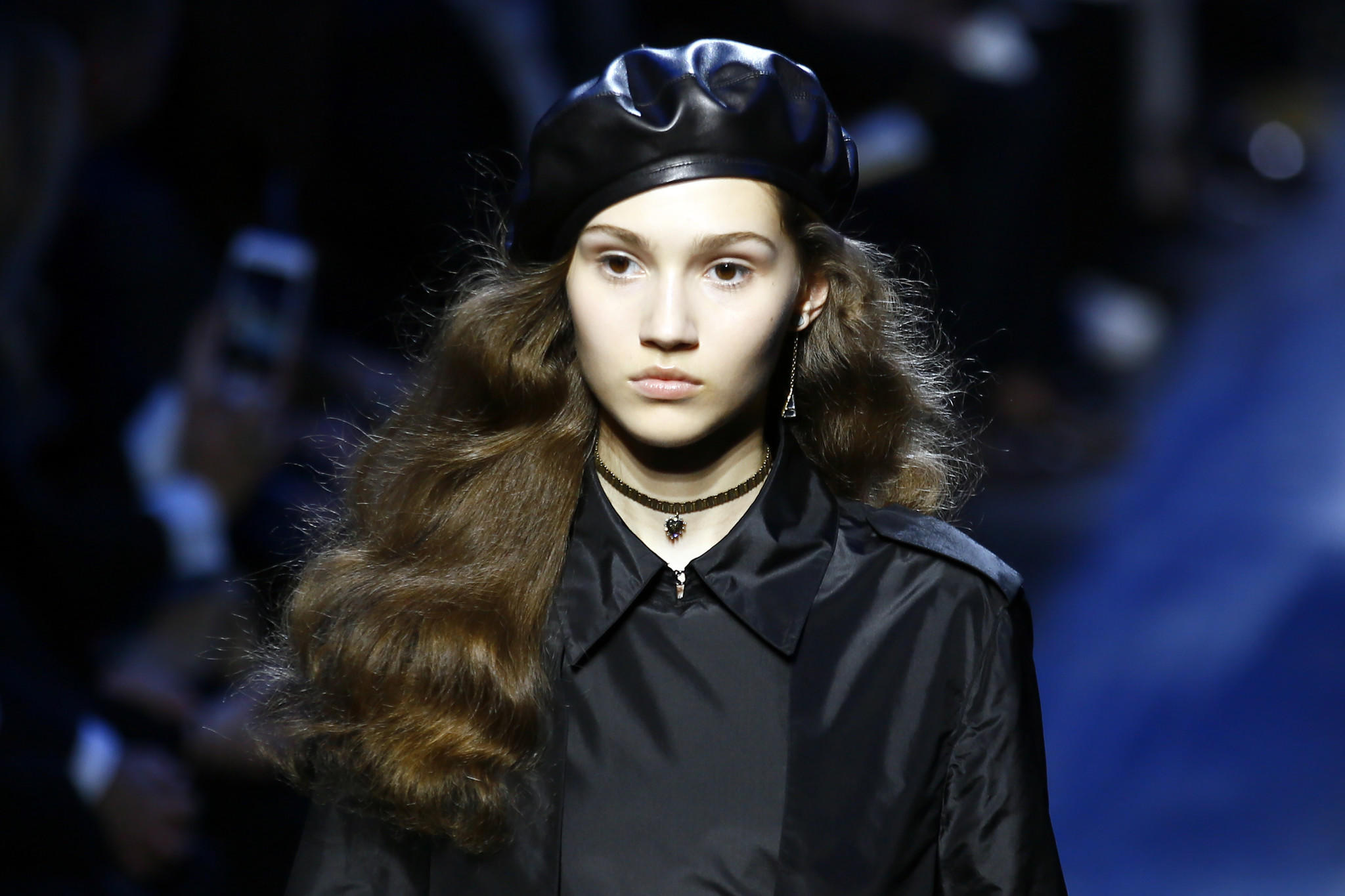 A model wears a creation for Christian Dior's Fall-Winter 2017-2018 ready-to-wear fashion collection on March 3 in Paris.