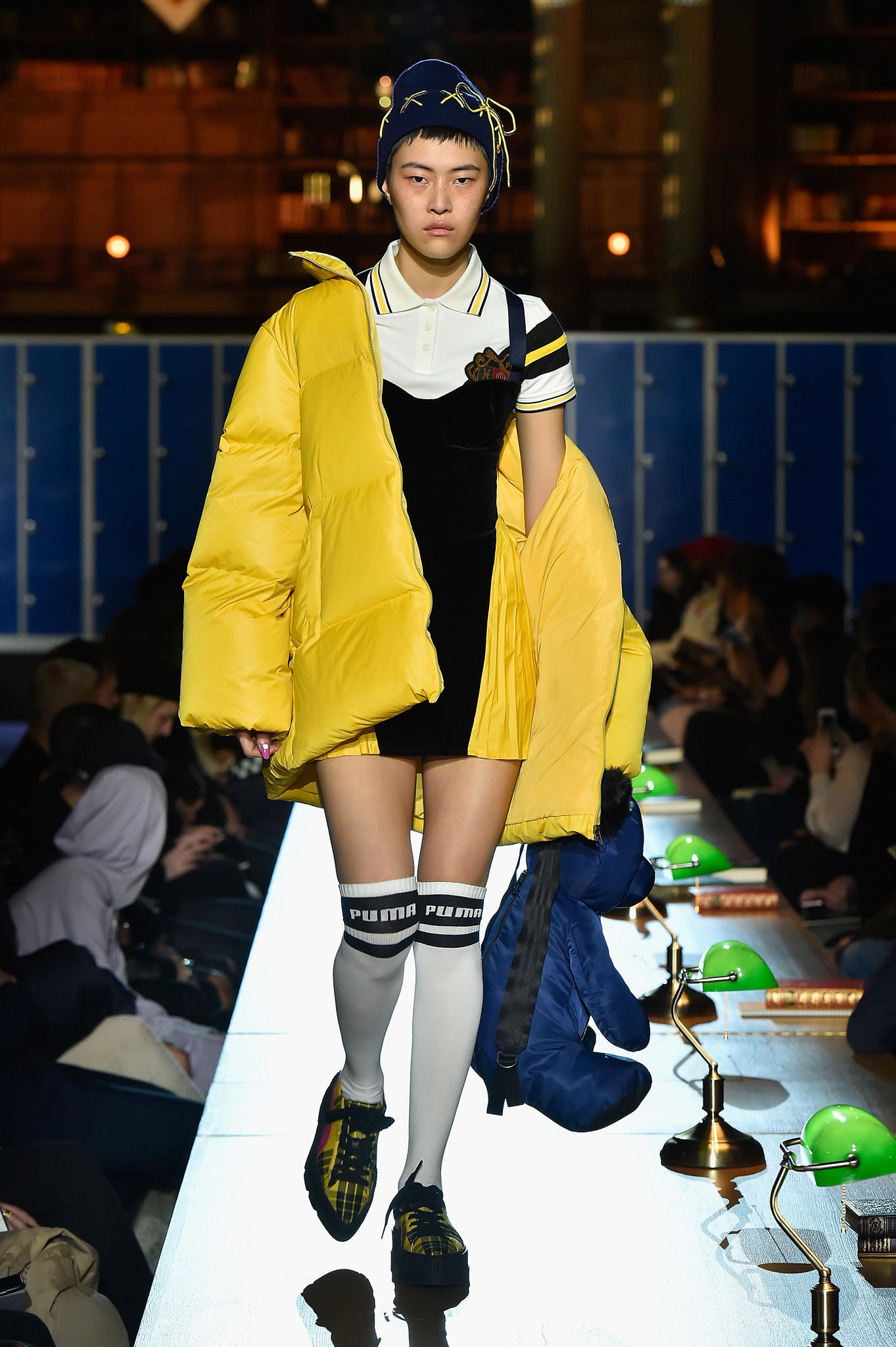 A model walks the runway during Fenty Puma by Rihanna Fall / Winter 2017 Collection at Bibliotheque Nationale de France on March 6, 2017.