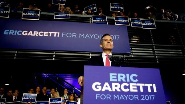 Mayor Eric Garcetti (Francine Orr / Los Angeles Times)