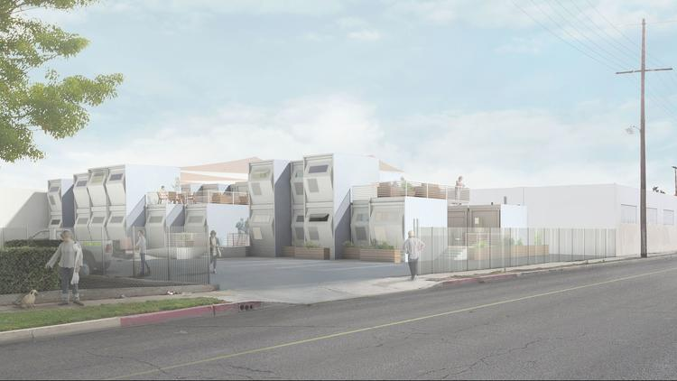 A street view rendering shows a Homes for Hope community.