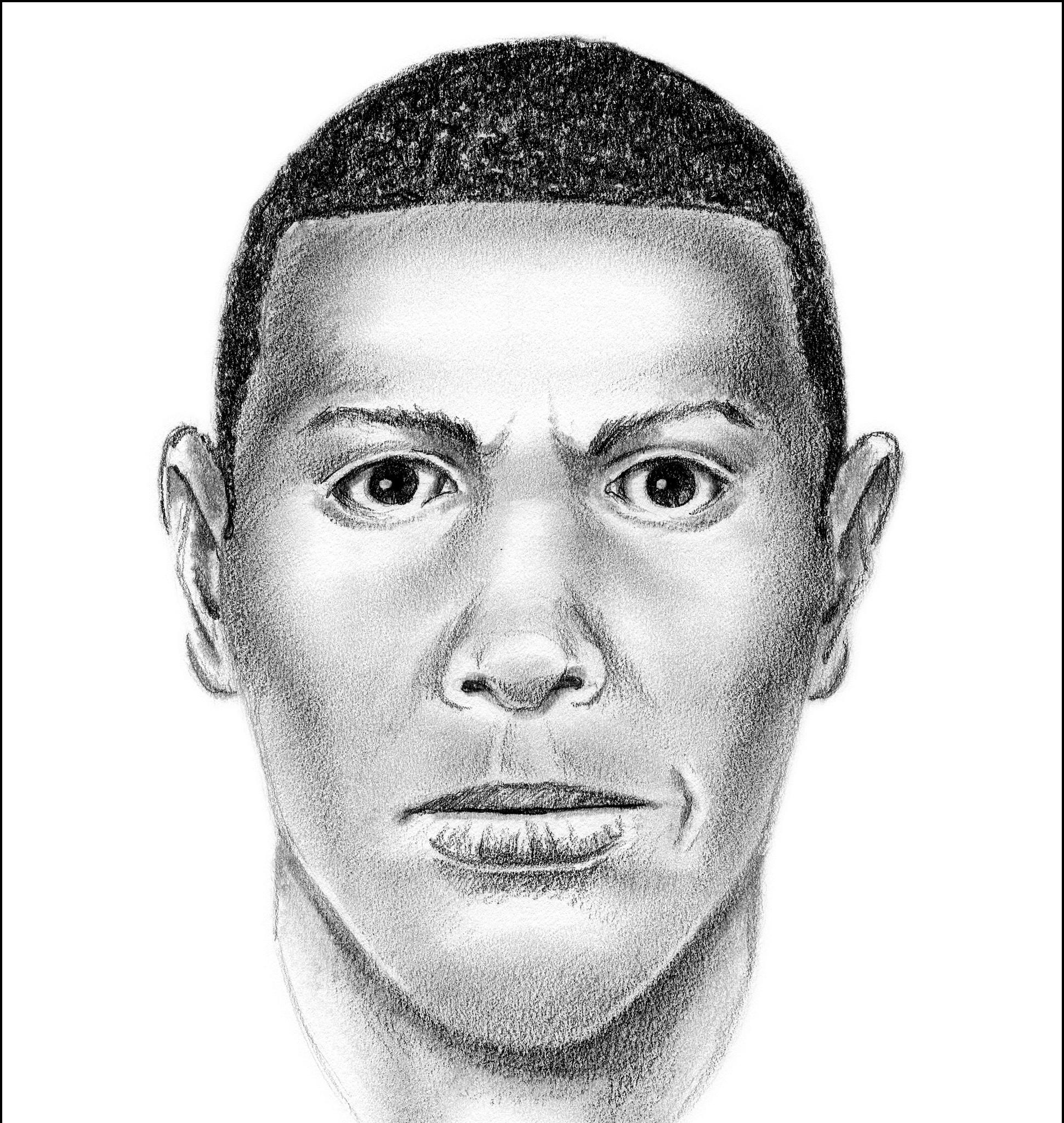 Composite sketch of suspect in Santos killing
