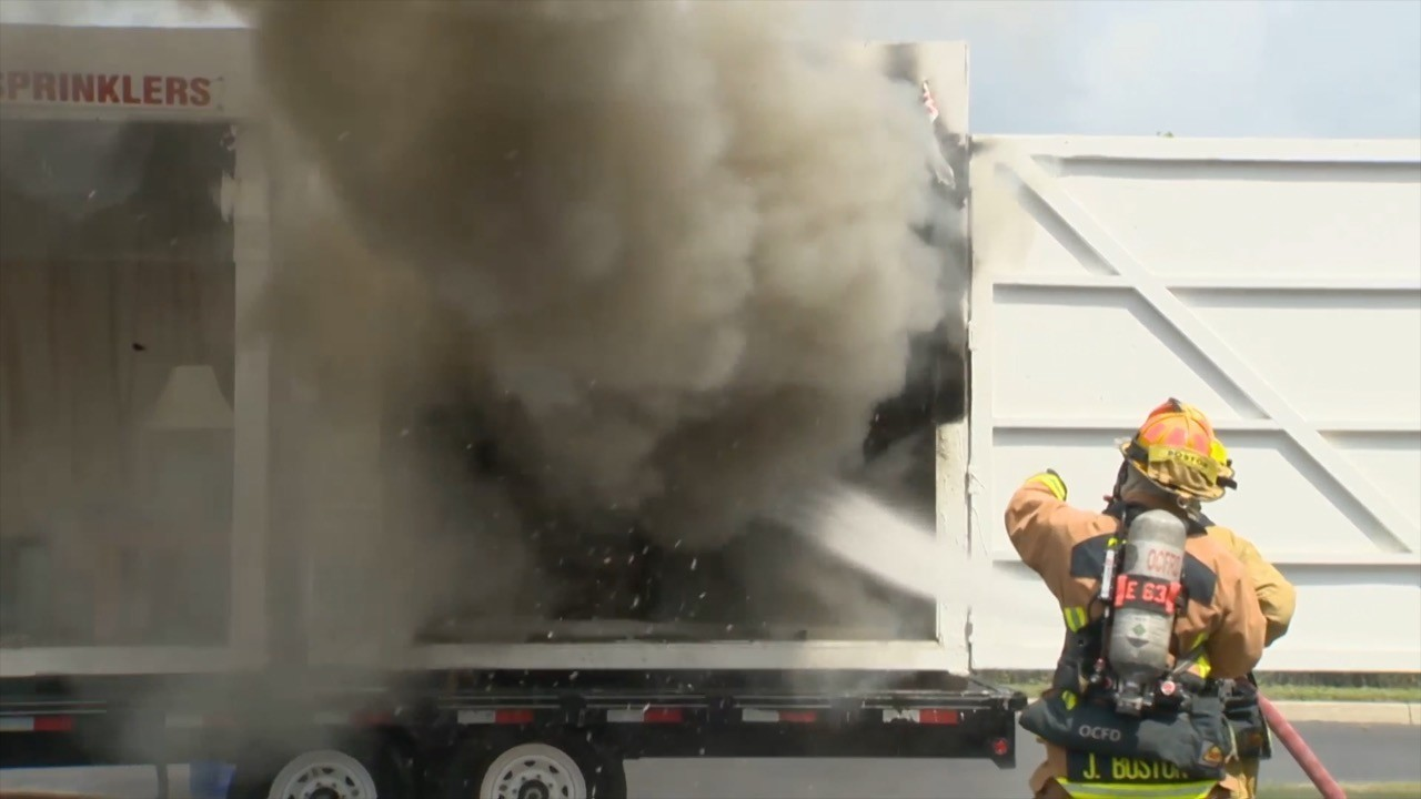 Orange County Fire Demonstrates Effectiveness Of Home Fire Sprinklers Orlando Sentinel
