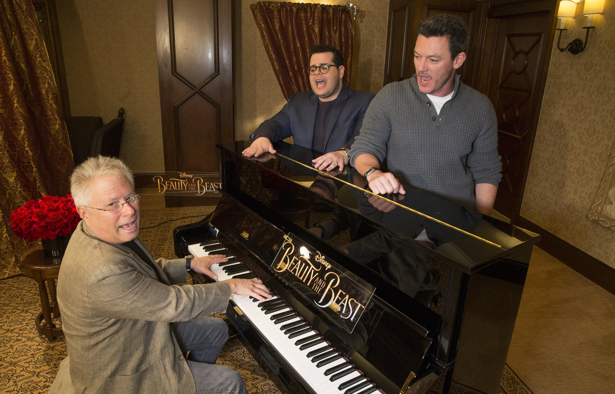 What happens when you put 'Beauty and the Beast' stars at a piano with composer Alan Menken? Disney magic
