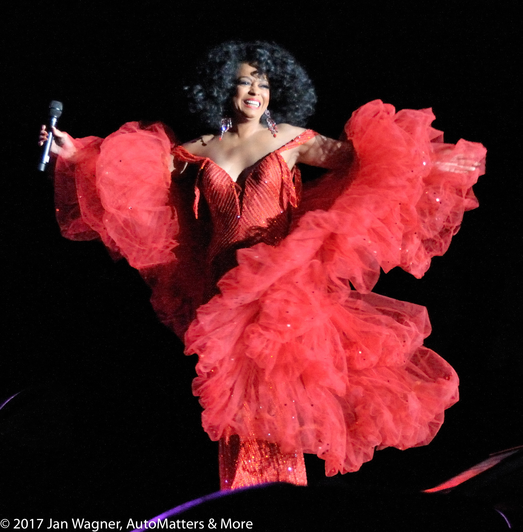 Superstar Diana Ross headlining Monster concert during CES2009