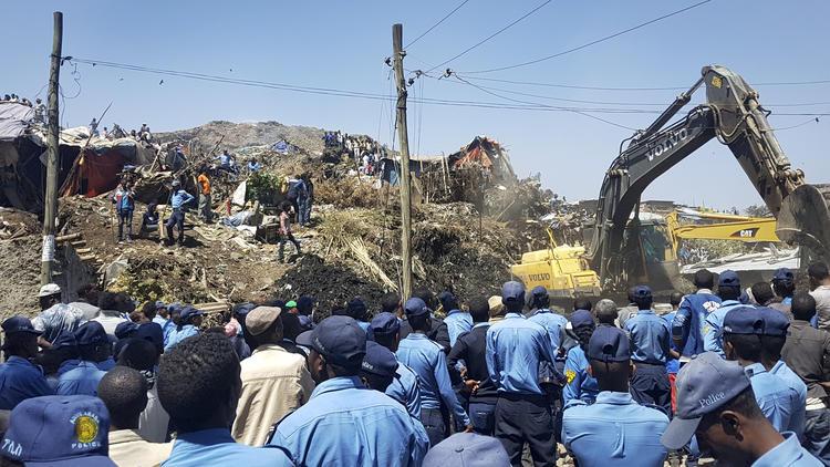 APTOPIX Ethiopia Deadly Landslide