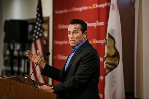 Schwarzenegger says he's not running for US Senate
