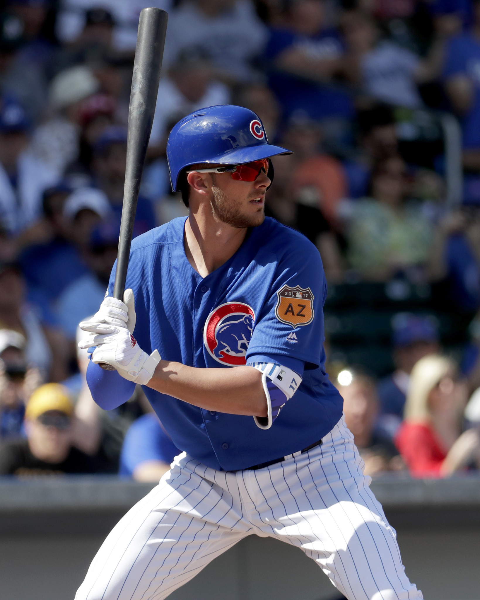 Kris Bryant gaining an outside edge at the plate Chicago Tribune