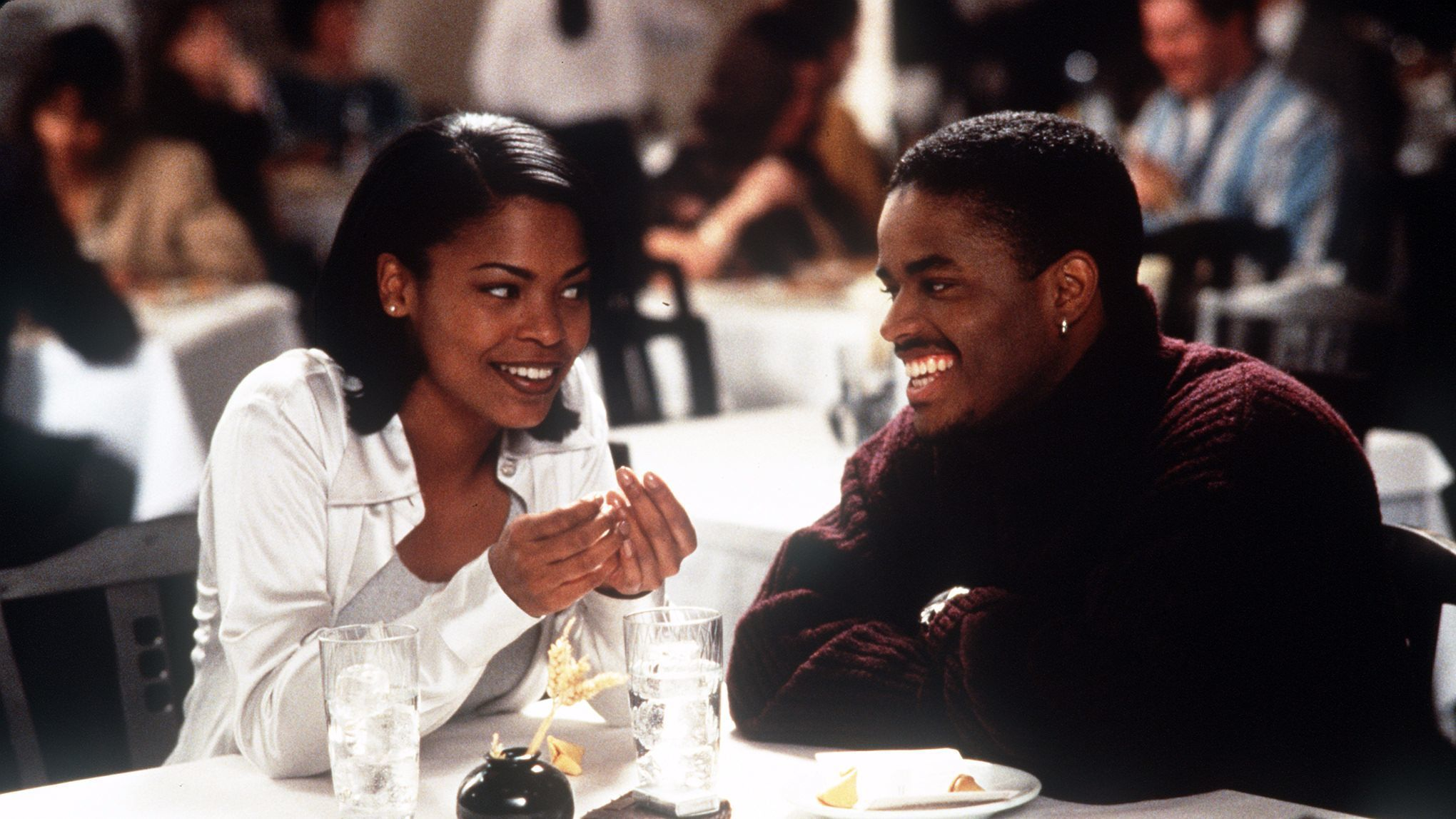 "Nia Long and Larenz Tate in ""Love Jones."" PHOTO GALLERY >>"