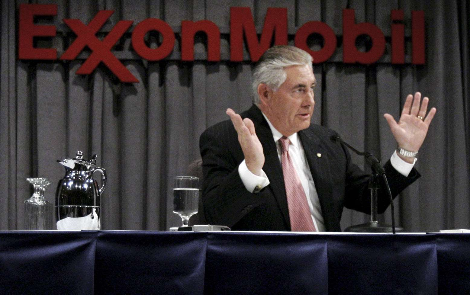 Why state secretary Tillerson used alias Wayne Tracker while a CEO at Exxon