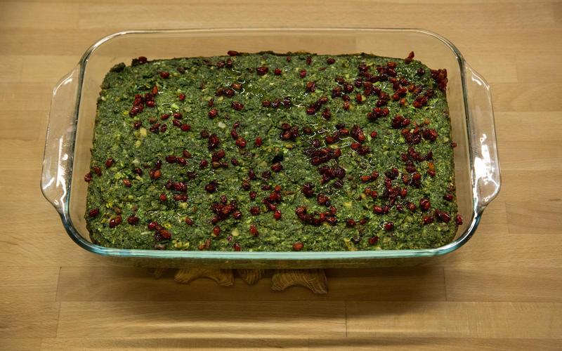 Fresh herb kuku (kuku-ye-sabzi)