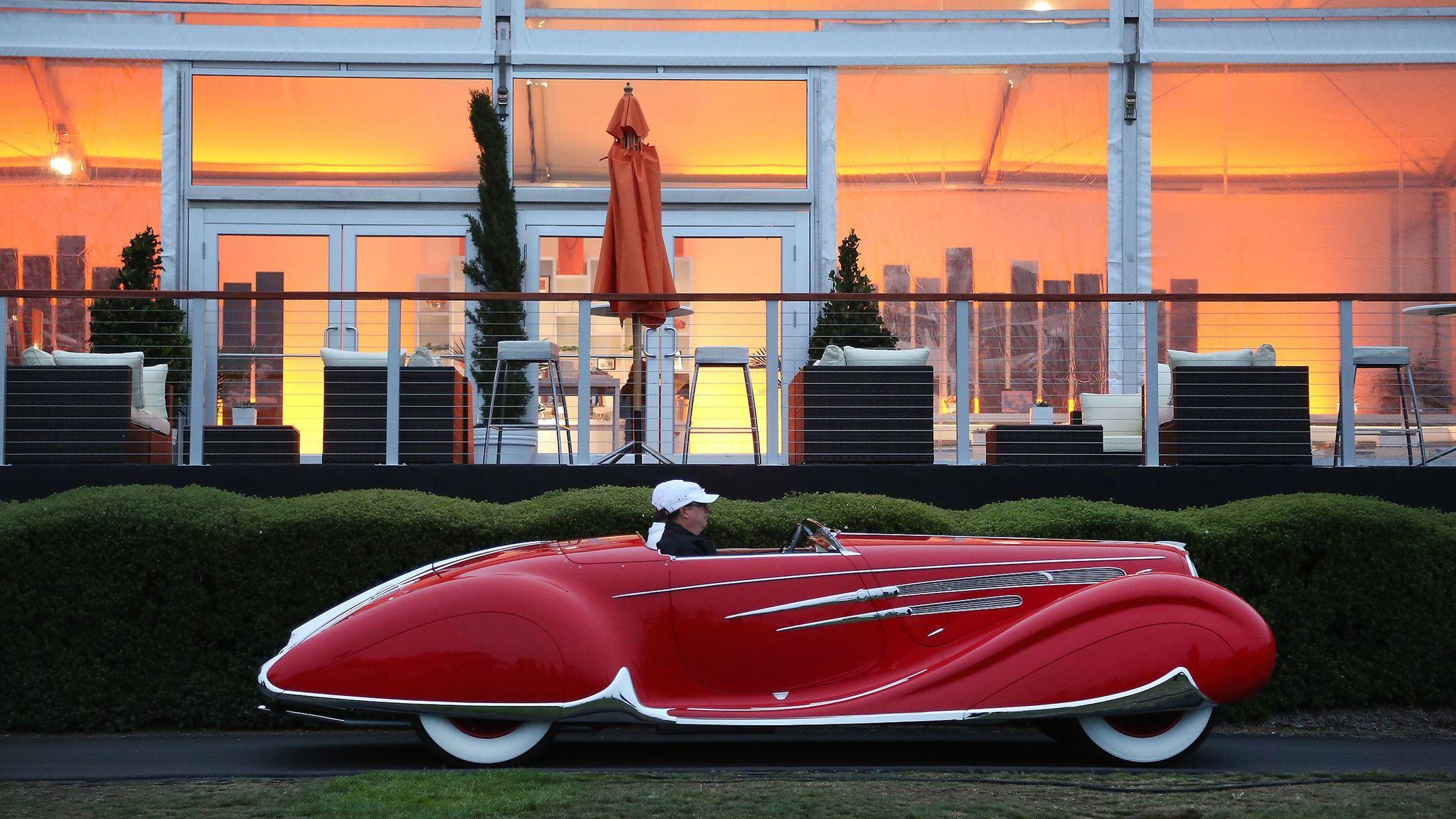 In Pebble Beach each August, you'll see this kind of jewel – a 1938 Delahaye 165 Figoni & Falaschi Cabriolet. (Myung J. Chun / Los Angeles Times)