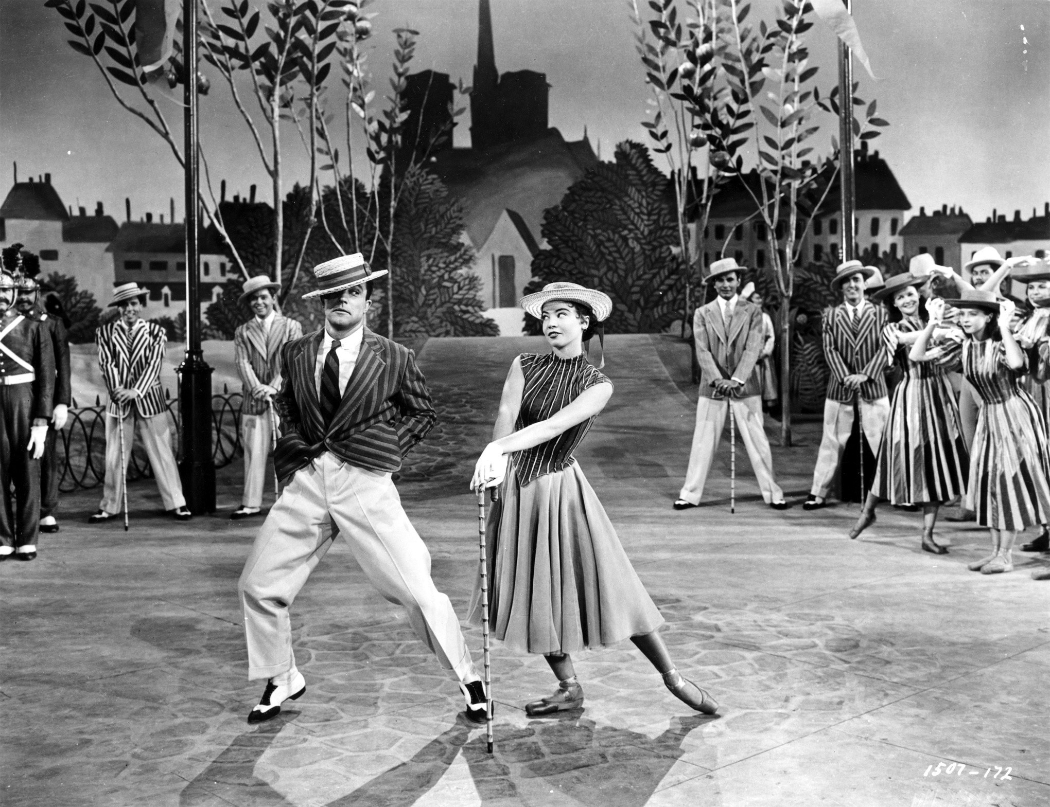 "Gene Kelly and Leslie Caron in ""An American in Paris,"" released in 1951."