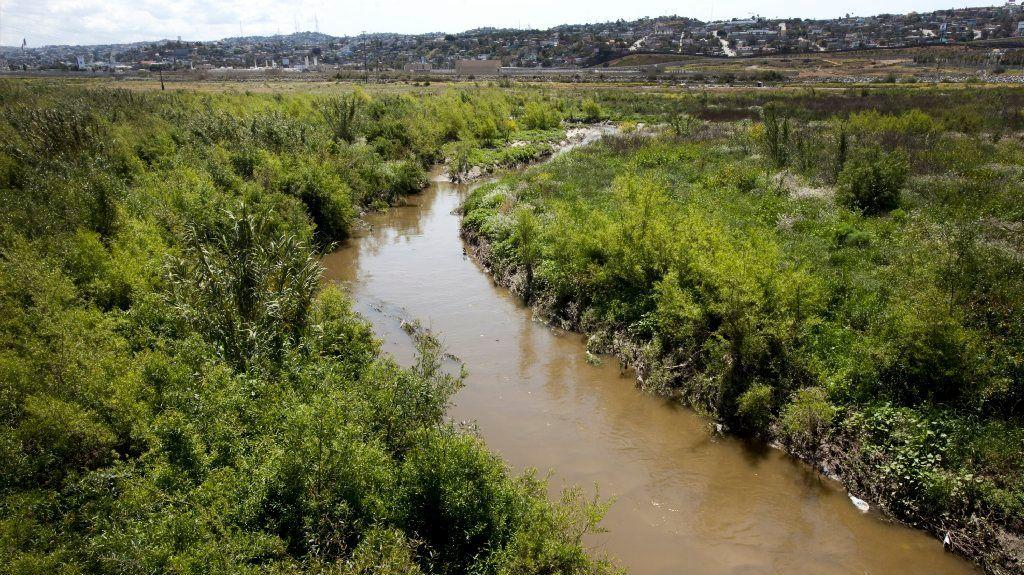The Tijuana River flowing near Dairy Mart Road in San Ysidro.
