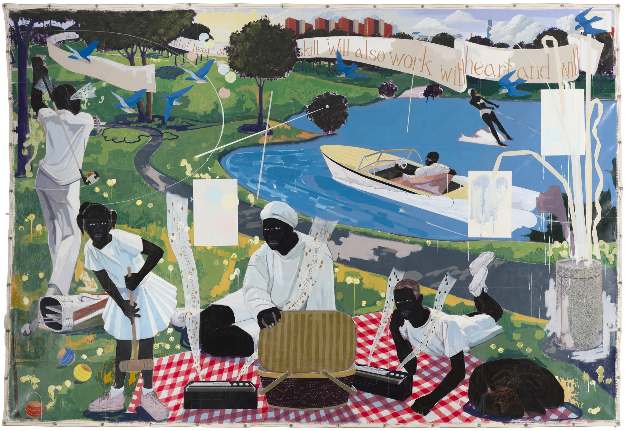 """Past Times,"" by Kerry James Marshall, part of the artist's 35-year retrospective at the Museum of Contemporary Art in Los Angeles."