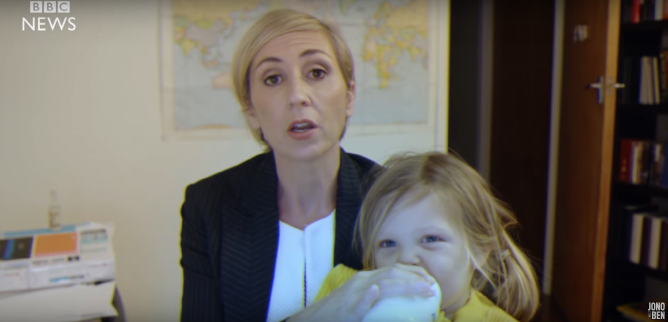 bbc dad' parody shows what mom would do - chicago tribune