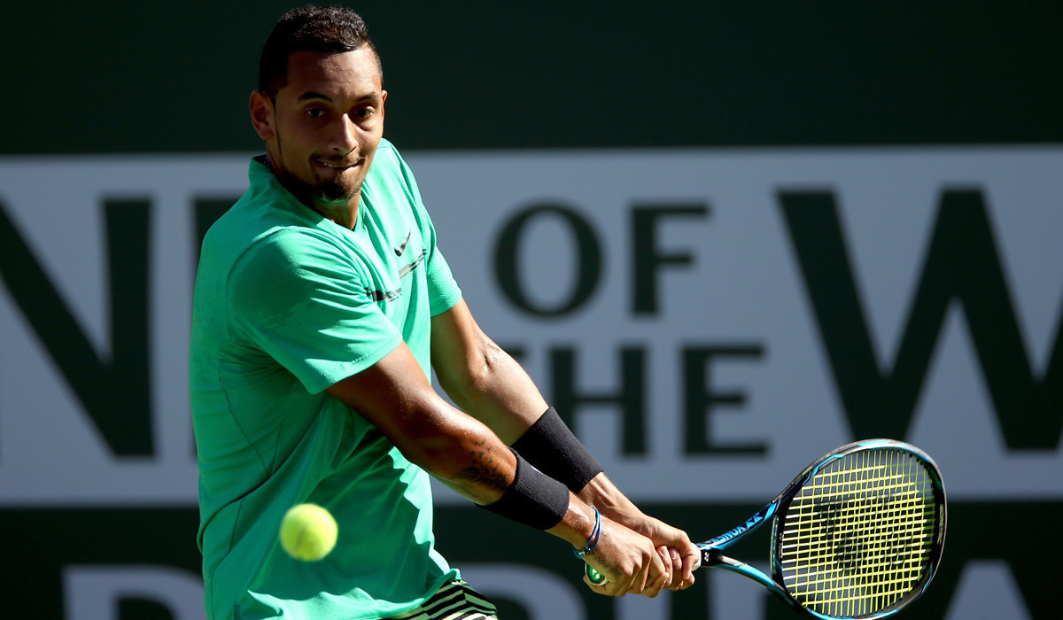 Ailing Nick Kyrgios withdraws from quarterfinal against Roger Federer at BNP Paribas Open