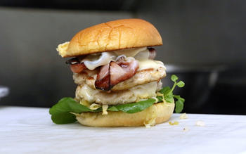 Nomad food truck collaboration burger with curtis stone