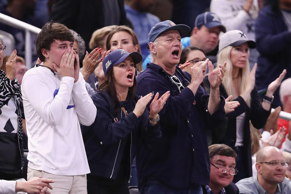 Actor Bill Murray attends an NCAA tournament game between Xavier and Maryland on March 16 in Orlando, Fla. (Rob Carr / Getty Images)