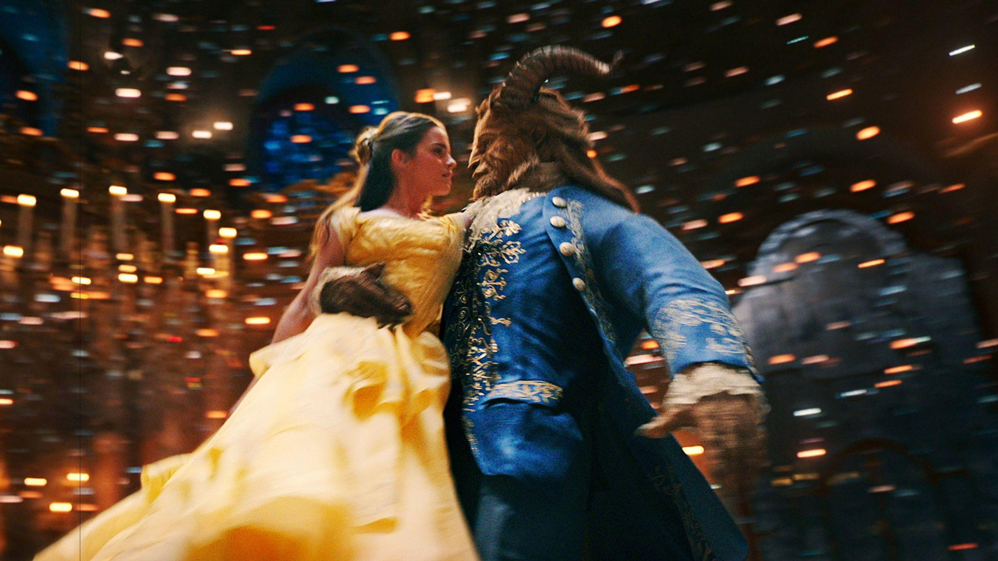 "Emma Watson as Belle and Dan Stevens as the Beast in ""Beauty and the Beast."" (Disney)"