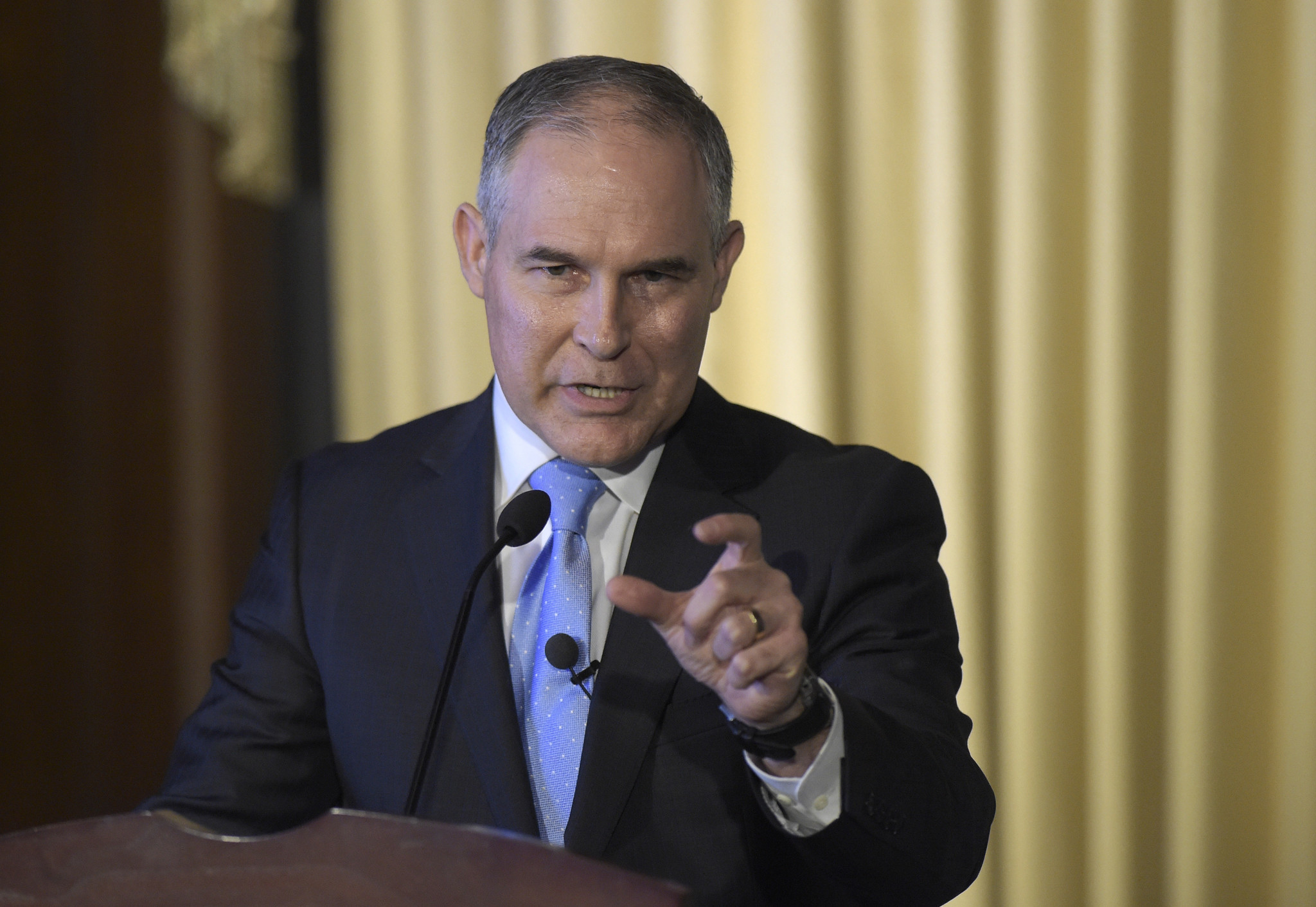 EPA Administrator Scott Pruitt speaks in Washington on Feb. 21. (Susan Walsh / Associated Press)