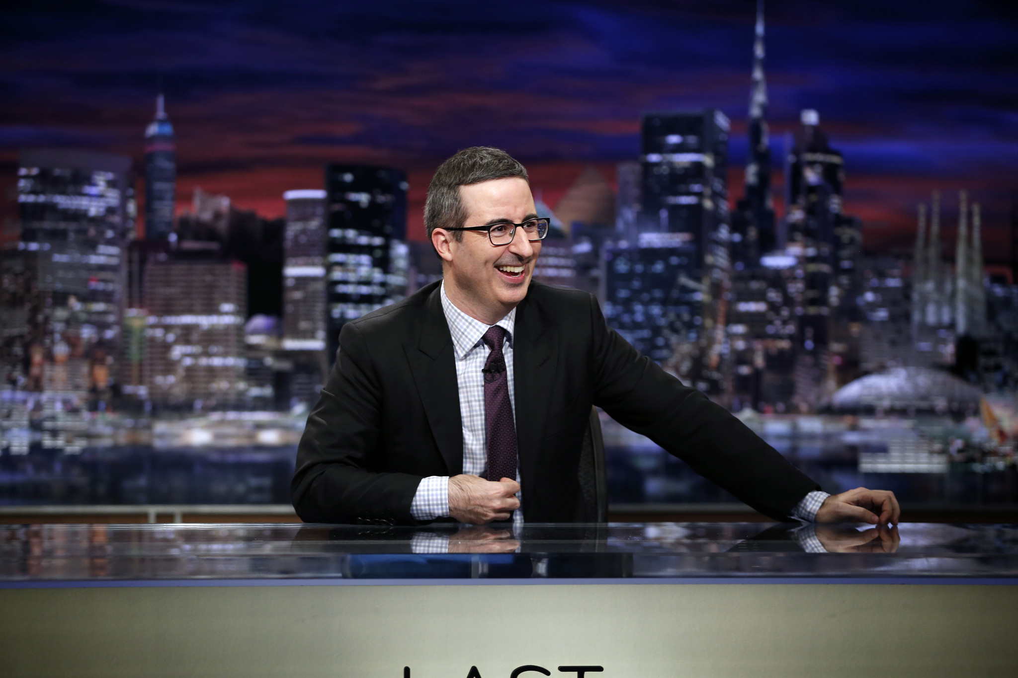"John Oliver tackled President Trump's budget and gave America the gift of zebras on Sunday night's episode of ""Last Week Tonight."" (Eric Liebowitz/HBO)"