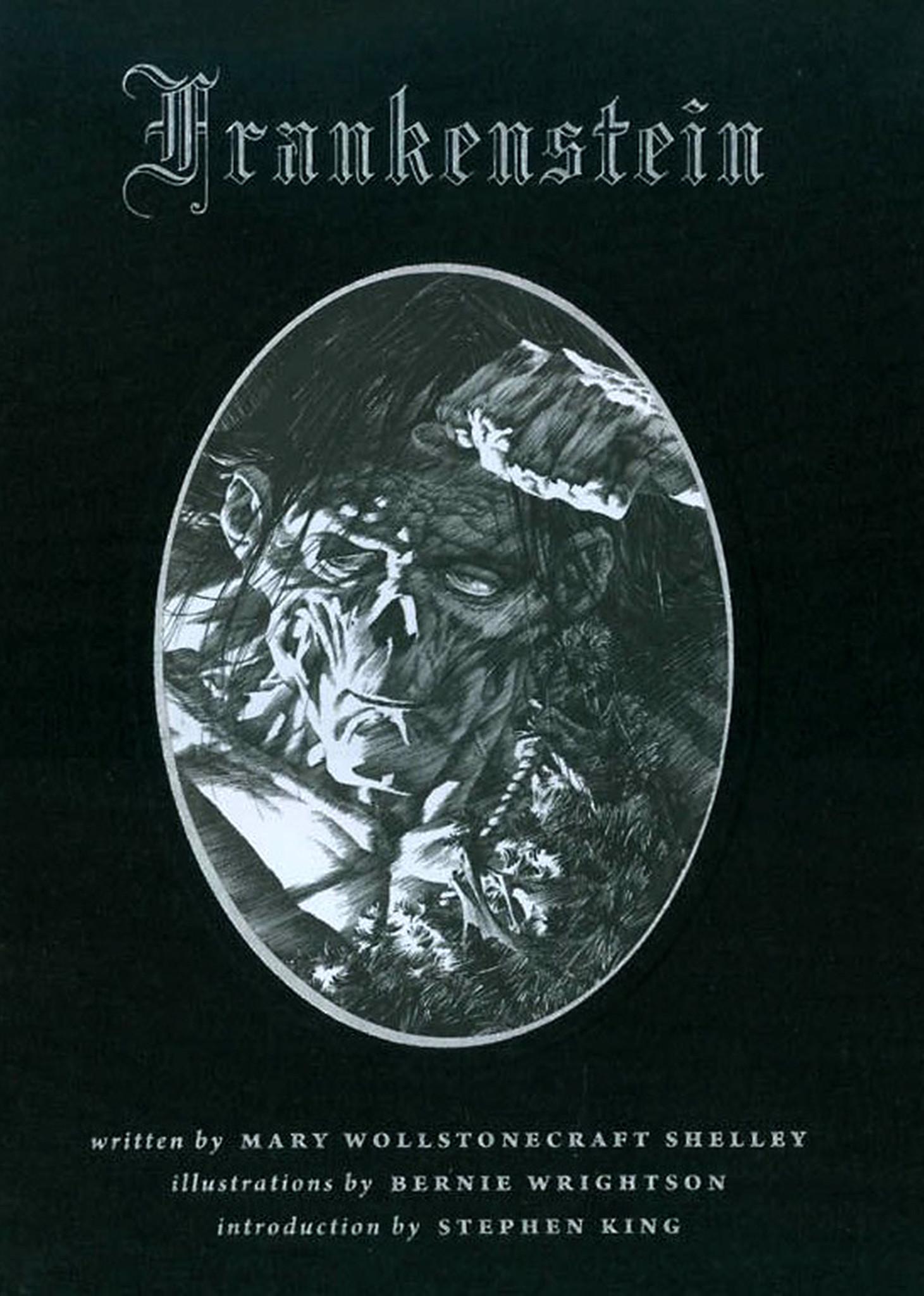"""Bernie Wrightson's cover for """"Frankenstein"""""""