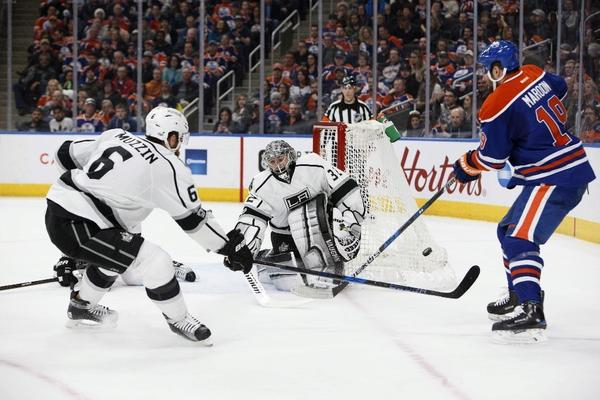 Kings Can't Get Past Talbot Wall In 2-0 Loss To Oilers