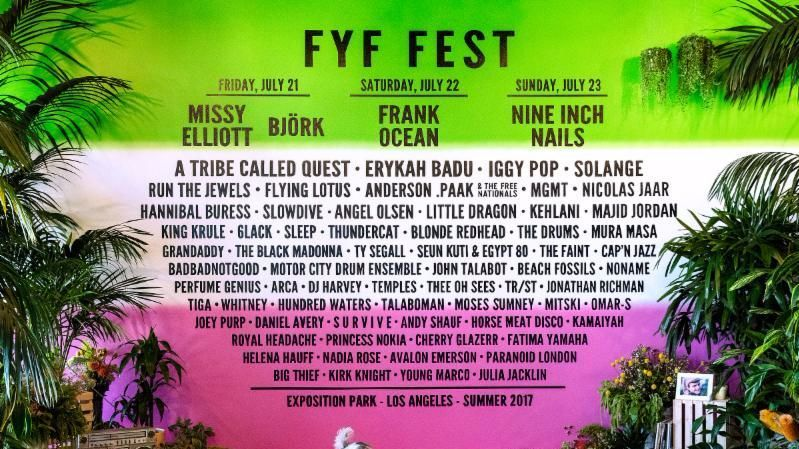The lineup for the 2017 FYF Fest (FYF Fest / Goldenvoice)