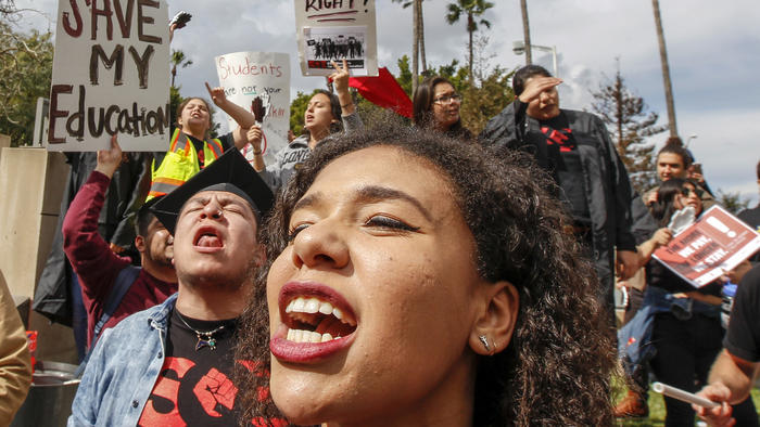 CSU tuition hike protests