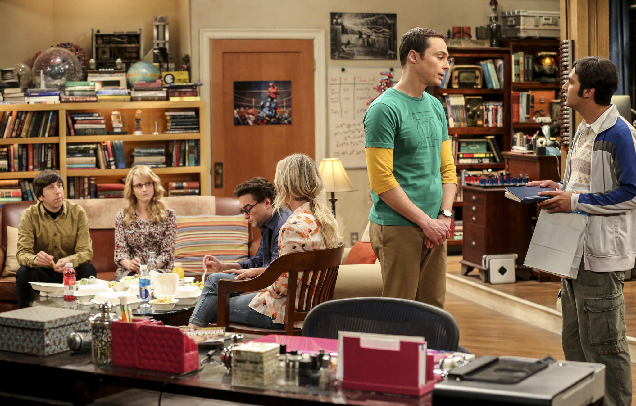 """The Big Bang Theory"" is one of 18 shows renewed by CBS for the 2017-18 season. (Michael Yarish / Warner Bros. Entertainment Inc.)"