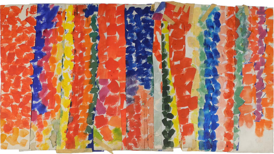 """Untitled,"" circa 1968, by Alma Thomas, part of an exhibition devoted to African American female artists at Sprüth Magers in L.A."