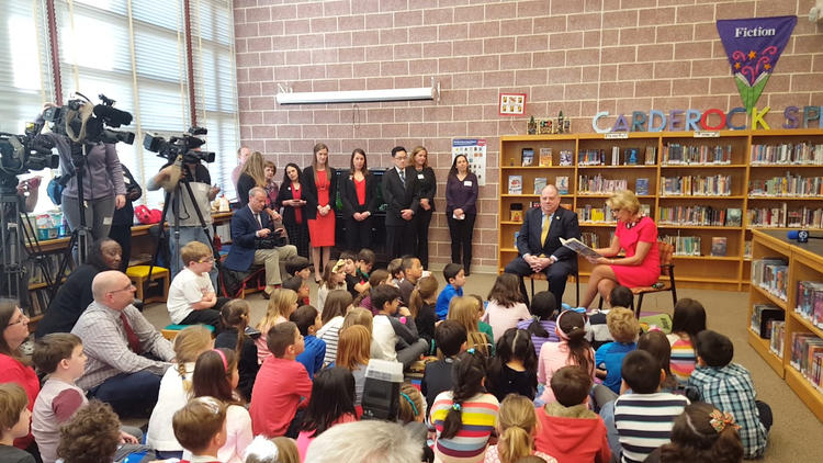 Gov. Hogan and Secretary DeVos visit Montgomery County school