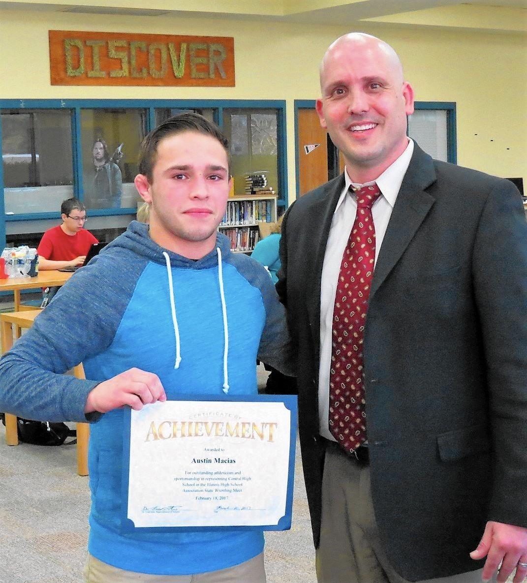 district 301 board recognizes wrestling champ