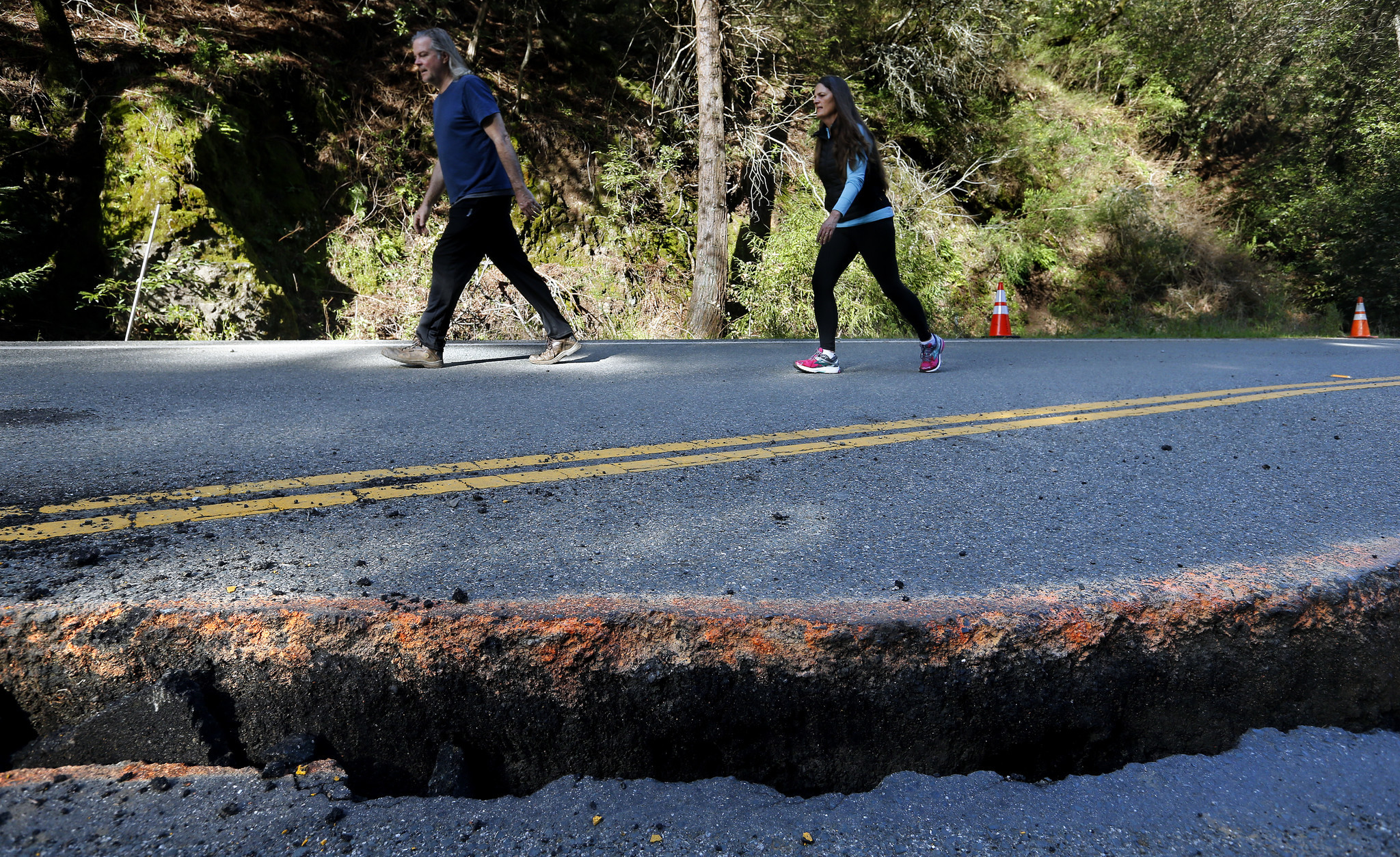 Along with landslides, Caltrans will have to repair the asphalt on Highway One in Big Sur, which was damaged by runoff from winter storms.